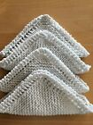 NEW Set of 4 -Hand Knit - DISHCLOTHS / WASHCLOTHS 100% Cotton with Directions