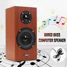 SADA V-180 USB Wired Wooden Computer Speakers Bass Stereo Player Sound Box
