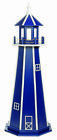 Amish Crafted Poly Outdoor Garden Lighthouse - Standard - Patriot Blue & White