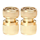 2pcs Brass Quick Connectors Garden Irrigation Accessories Wash Pipe Fittings