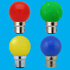 10x 3W LED Coloured BC B22 Golf Ball Light Bulb Lamp Red Yellow Green Blue
