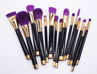 New & Beauty 15Pcs Professional Makeup Brushes Set Cosmetic Kabuki Makeup Tools