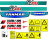 More images of YANMAR SV08 MINI DIGGER  DECAL SET WITH SAFETY WARNING SIGNS