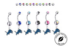 Detroit Lions Silver Belly Button Navel Ring - Customize Gem Color - NEW on eBay
