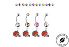 Cleveland Browns Silver Belly Button Navel Ring - Customize Gem Color - NEW $10.99 USD on eBay