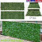Au 1x3m Artificial Ivy Leaf Fence Green Garden Panel Wall Hedge Plants Outdoor