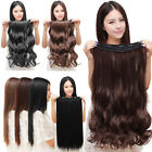 100% Natural Lady 3/4 Full Head Clip In Hair Extensions Straight Wavy Curly A5K6