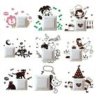 Fashion Cartoon Pvc Various Mural Decals Light Decor Wall Home Switch Stickers