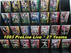 1993 NFL Pro Line LIVE Football Cards _ Choose 1 or All 27 Teams _ Smoke-Free $4.44 USD on eBay