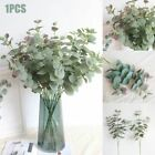 Artificial Faux Silk Eucalyptus Plant Green Leaves Fake Plant Home Party Decor