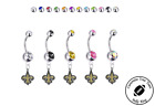 New Orleans Saints Silver Belly Button Navel Ring - Customize Gem Color - NEW on eBay