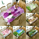 3D Nature Floral print Tablecloth New Home Kitchen Dinner Decor Table Top cover