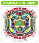 2 DETROIT LIONS @ Redskins 45 yard line ... sec 122 row 18 on eBay