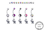 Colorado Rockies Silver Belly Button Navel Ring - Customize Gem Color - NEW on Ebay