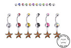Houston Astros Silver Belly Button Navel Ring - Customize Gem Color - NEW on Ebay
