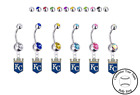 Kansas City Royals Silver Belly Button Navel Ring - Customize Gem Color - NEW on Ebay