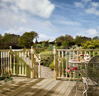 Turned Colonial Treated Softwood Balustrade Kits 1800mm Rails, Spindles & Posts