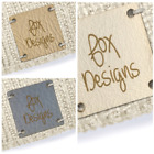 Personalised Faux Leather Tags Square 25mm Product tags, custom business