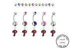 Philadelphia Phillies Silver Belly Button Navel Ring - Customize Gem Color - NEW on Ebay