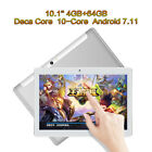 10.1'' 7'' Tablet PC Android 7.11 Deca Core 4G+64GB 10Inch HD WIFI 2 SIM Phablet
