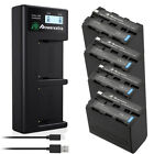 Powerextra 8800mAh NP-F970 Battery + Charger For Sony NP-F330 NP-F550 NP-F960 US