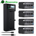 Powerextra 8800mAh NP-F970 Battery / Charger For Sony NP-F330 NP-F550 NP-F960 US