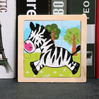 17 Styles Animals Wooden Puzzle Blocks Toddler Baby Kids Child Educational Toy