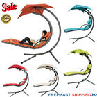 Garden Swing Hammock Helicopter Hanging Chaise Lounger Chair Seat Sun + Cushion