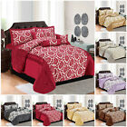 Luxurious 7 Pcs Comforter Bed Throw Quilted Bedspread Double King Size &Curtains image