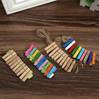 DIY Creative Mini Paper Photo Frame Wood Cilp Clothespins Twine Toll Wall Deco