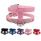 PU Leather Personalised Pet Dog Harness Free Name Charms for Puppies XS S M
