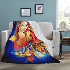 Custom Design Beauty and the Beast Soft Throw Fleece Sofa Blanket image
