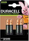 Pack Duracell Rechargeable Batteries AAA 750 Mah HR03 DC2400 NiMH Phone Cordless