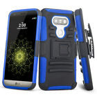 New Hybrid Belt Clip Holster Case Cover Hard Skin For LG G3 G5 V3 K7 Phone