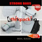 50 x  Premium Strong WHITE Virgin Plastic Mailing Postal Poly Bags12x16 Size