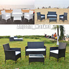 Rattan Garden Beach Furniture Sst 4 Piece Chairs Sofa Table Outdoor Patio Set
