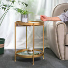 Industrial Nordic Metal 2tier Sofa Side Table Coffee Table Bedside Lamp Table