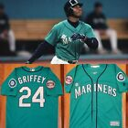 NWT Men's Ken Griffey Jr Seattle Mariners Baseball Jersey (S,M,L,XL,2XL,3XL) on Ebay