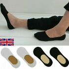 Mens Womens 3 or 6 Pairs Invisible Socks Footsies no show Shoe Liners Ballerina  <br/> Nude Black White UK Size 4-11  Loafer Dolly Trainers