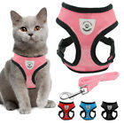 Adjustable Mesh Padded Breathable Cat Harness and Lead Set for Small Dogs Puppy