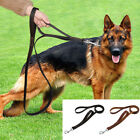 2.5cm Wide Real Leather Dual Handle Dog Lead Large Breeds Walking Traffic Lead