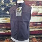 Wyoming Traders Mens Morgan Zip Up Fleece Lined Soft-Shell Vest - CHARCOAL