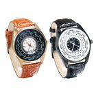 Luxury Increative Country-Design Real Leather Strap Analog Dial Quartz Watches image