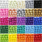 Czech Opaque Glass Beads Round Pearl Coated 4mm 6mm 8mm 10mm 12mm 16' Strand