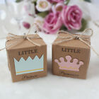 Внешний вид - 10x Baby Shower Candy Box Baptism Party Favor Gift Boxes Christening Table Decor