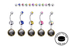 Buffalo Sabres Silver Belly Button Navel Ring - Customize Gem Color - NEW $9.99 USD on eBay