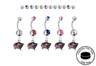 Columbus Blue Jackets Silver Belly Button Navel Ring - Customize Gem Color - NEW $19.99 USD on eBay