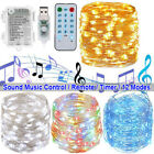 5/10m Led String Lights Music Control Fairy Light Home Party Lamps Wedding Decor