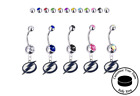 Tampa Bay Lightning Silver Belly Button Navel Ring - Customize Gem Color - NEW $14.99 USD on eBay