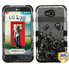 Hard Case +Silicone Protector TUFF Cover for LG Optimus Exceed 2 MS323 L70